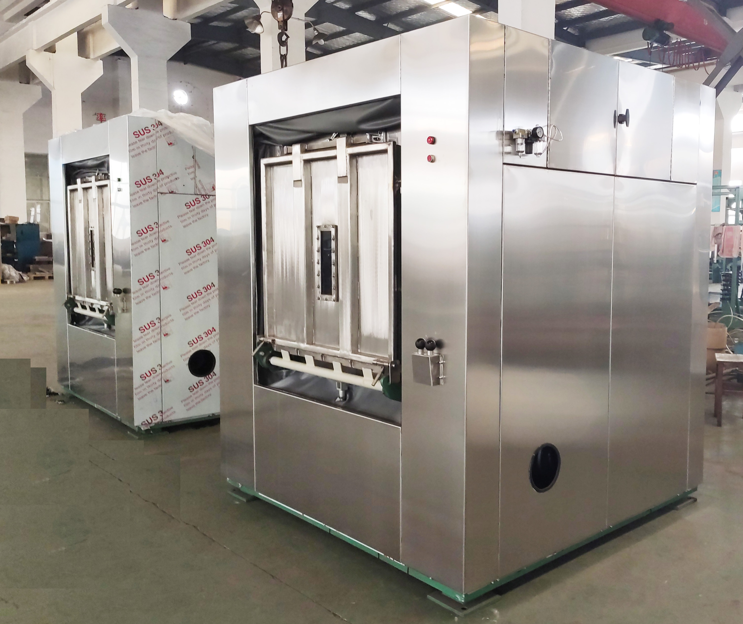 Pharmaceutical Factory Uniform Sanitary Barrier Washing Machine 50kgs
